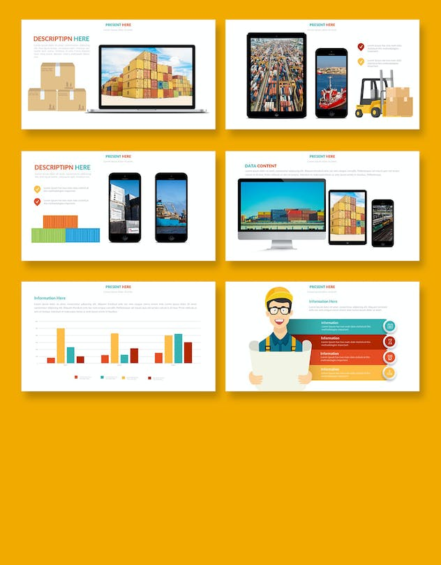 Logistic Infographic Powerpoint - product preview 7