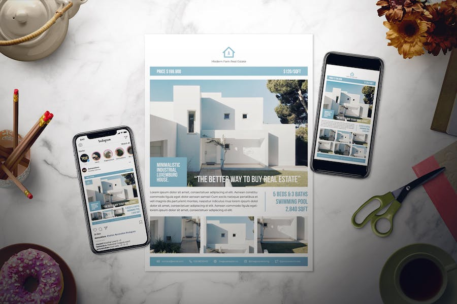 Real Estate Flyer Set - product preview 1