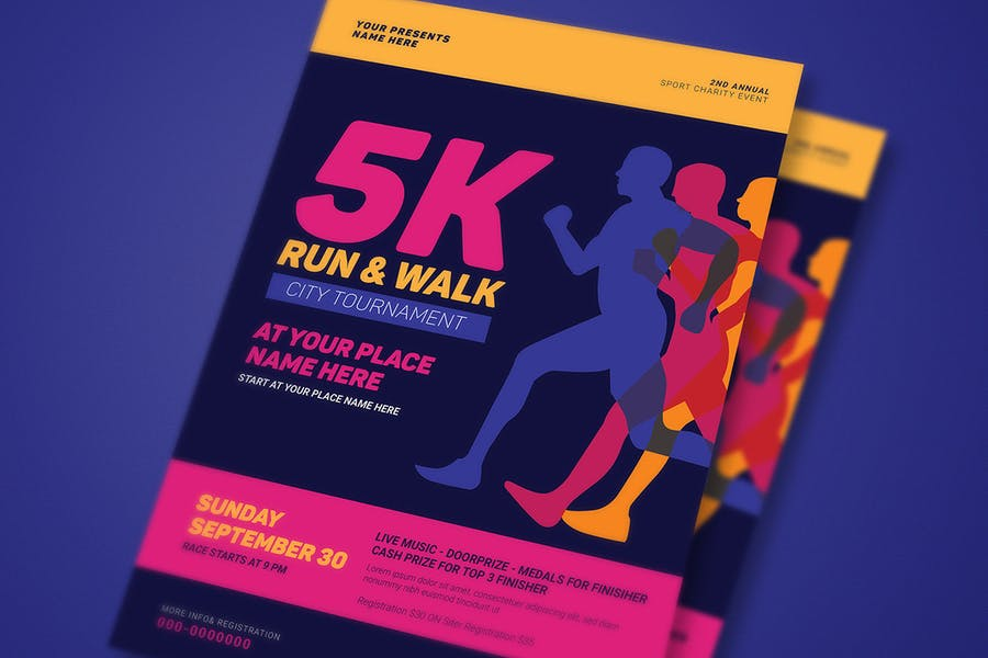 5k Run & Walk Event Flyer - product preview 2