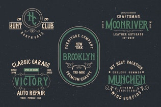 Thumbnail for Whisholder Vintage Retro Typeface