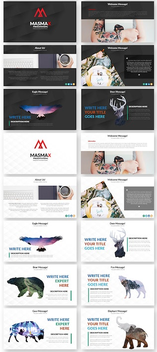 Thumbnail for Masmax Powerpoint Template