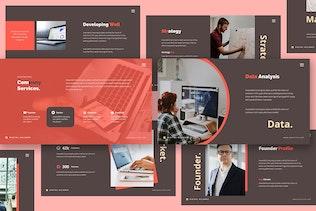 Миниатюра для Шаблон Powerpoint цифрового маркетинга