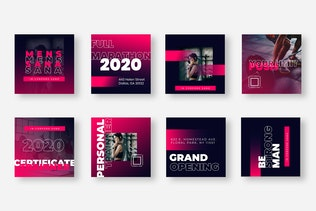 Thumbnail for Eight Duotone Instagram Post Template