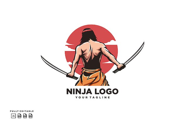 Ninja Two Swords Logo