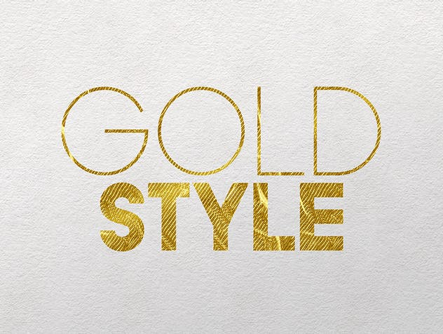 Gold Text Effects 2 - product preview 5