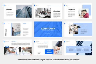 Thumbnail for Pro Company Powerpoint Template