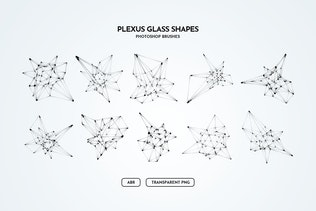 Thumbnail for Plexus Glass Shapes Photoshop Brushes
