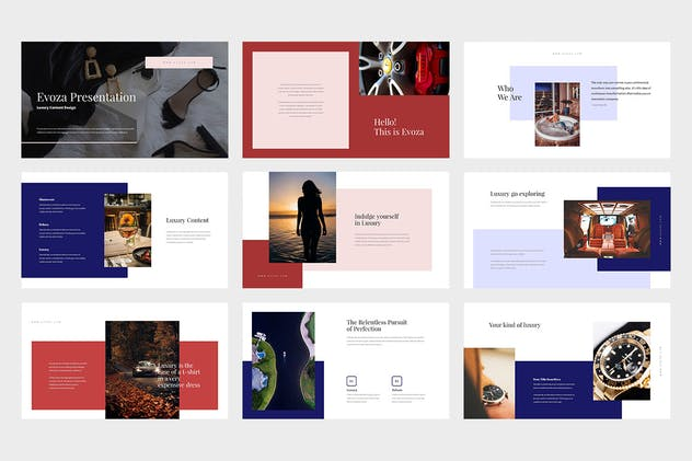 Evoza : Luxury Lifestyle Powerpoint - product preview 7