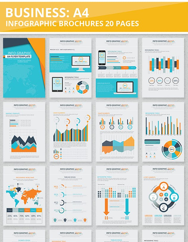 20 Pages Info Graphic Elements Design - product preview 1