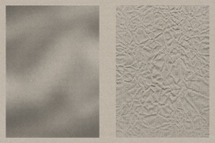 Halftone Vector Paper Textures - product preview 10