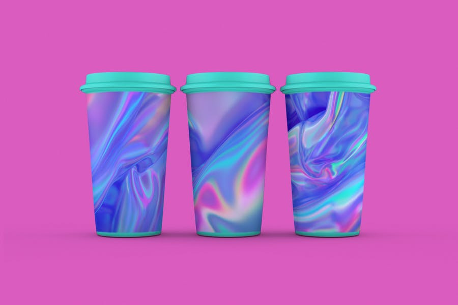 Iridescent Abstract Backgrounds  - V2 - product preview 2