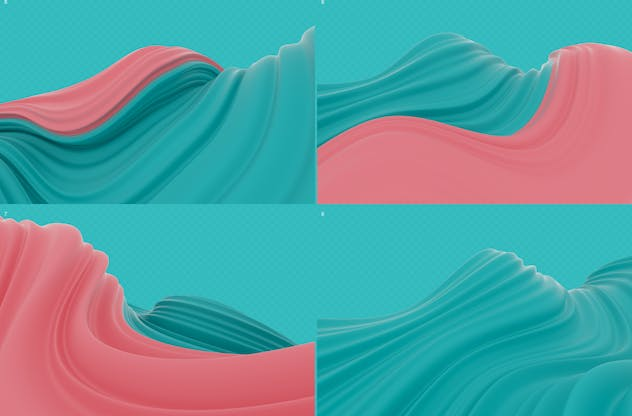Abstract 3D Wavy Striped Backgrounds - product preview 7