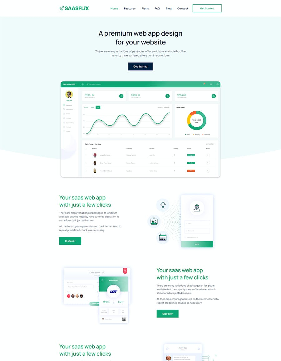 Saasflix SaaS Software Landing Page Template - product preview 3