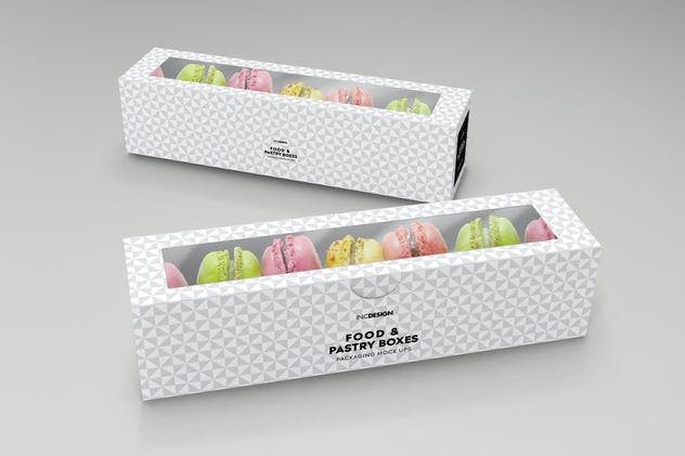 Food Pastry Boxes Vol.2: Packaging Mockups - product preview 5