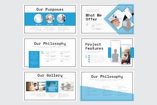 Thumbnail für Geschäftsvorschlag - Google Slide V300