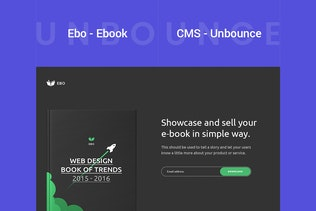 Thumbnail for Ebo - Ebook Unbounce Template