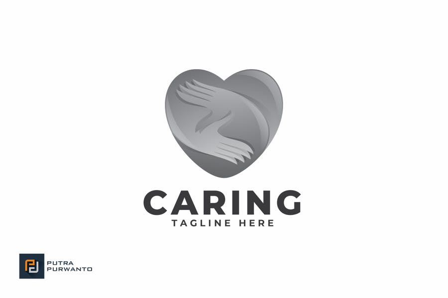 Caring - Logo Template - product preview 2