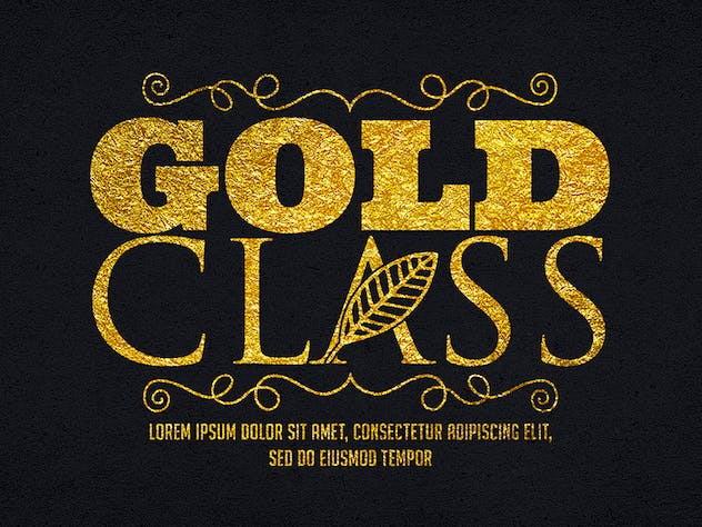 Gold Text Effects 1 - product preview 7