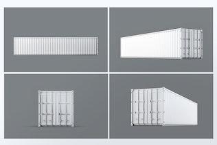 40ft Dry Van Container Mock-up