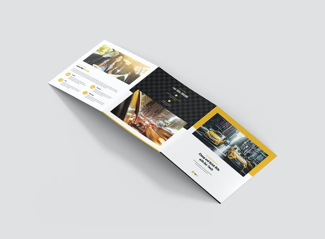 Taxi Cab – Brochures Bundle Print Templates 5 in 1 - product preview 10