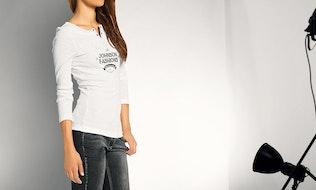 Thumbnail for Woman Longsleeve Shirt Mock-up