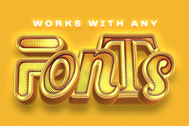 Shiny Gold Realistic 3D Text Effects - product preview 1