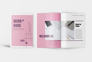 Thumbnail for Pinkle - Minimalist Workbook Template