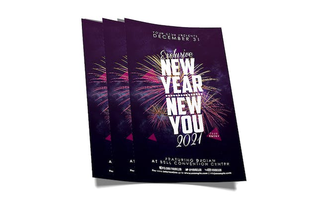 New Year Party Flyer - product preview 3
