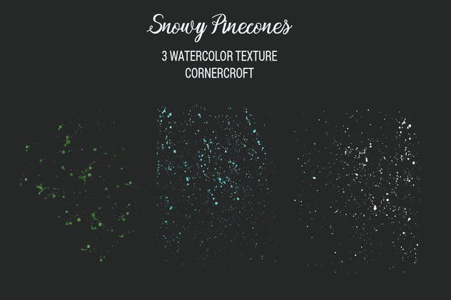 Watercolor Snowy Pinecones - product preview 5