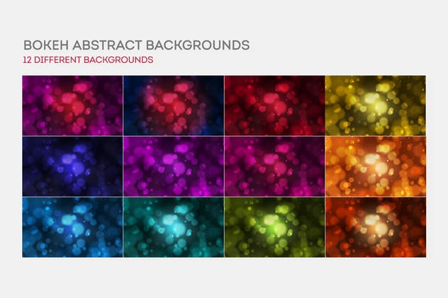 Bokeh Abstract Backgrounds - product preview 6