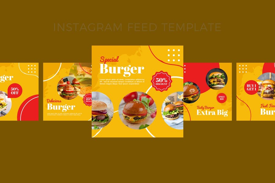 Burger - Food  Instagram Post
