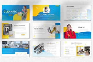 Cleanfio - Cleaning Service Googleslide Templates