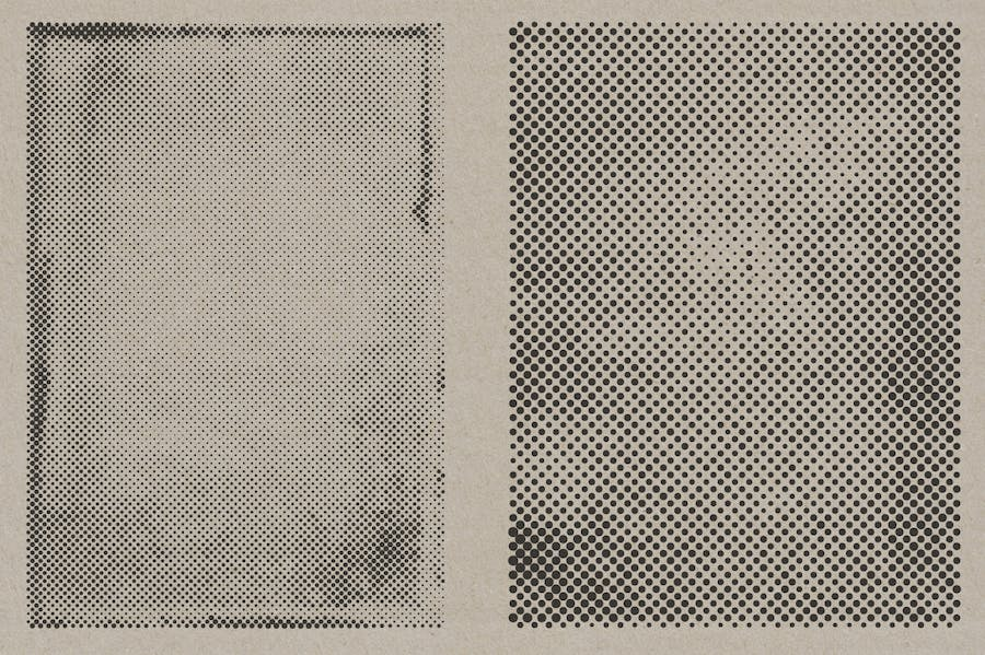 Halftone Vector Paper Textures - product preview 8