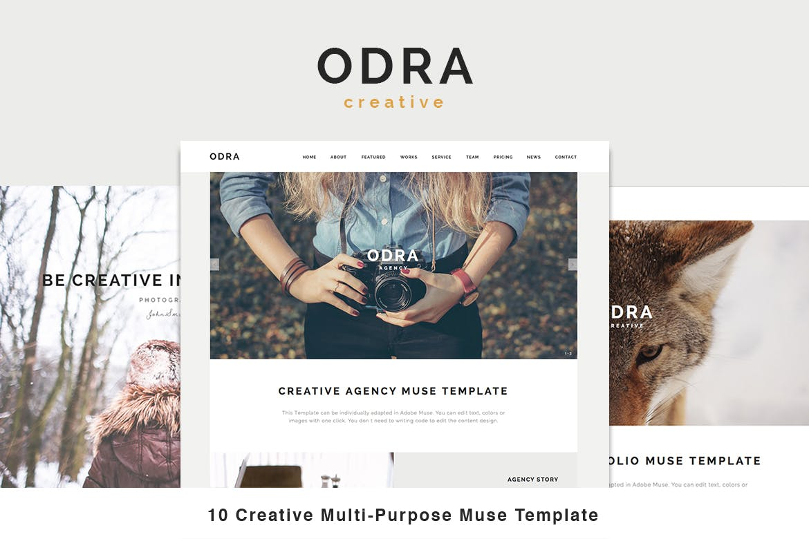 ODRA - 10 Creative Muse Templates Multi-Purpose