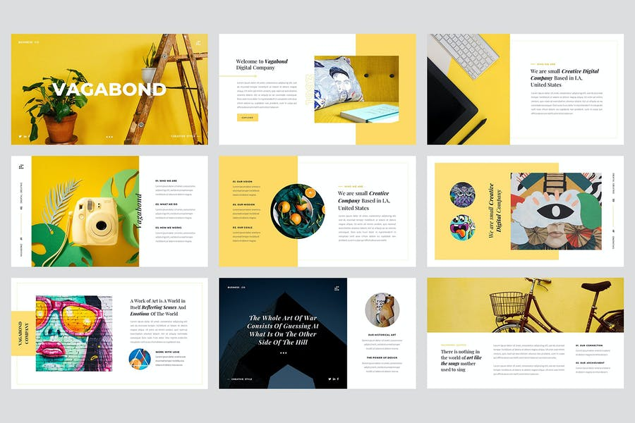 Vagabond - Creative & Business Keynote Template - product preview 1