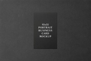 Thumbnail for 85x55 Portrait Business Card Mockup