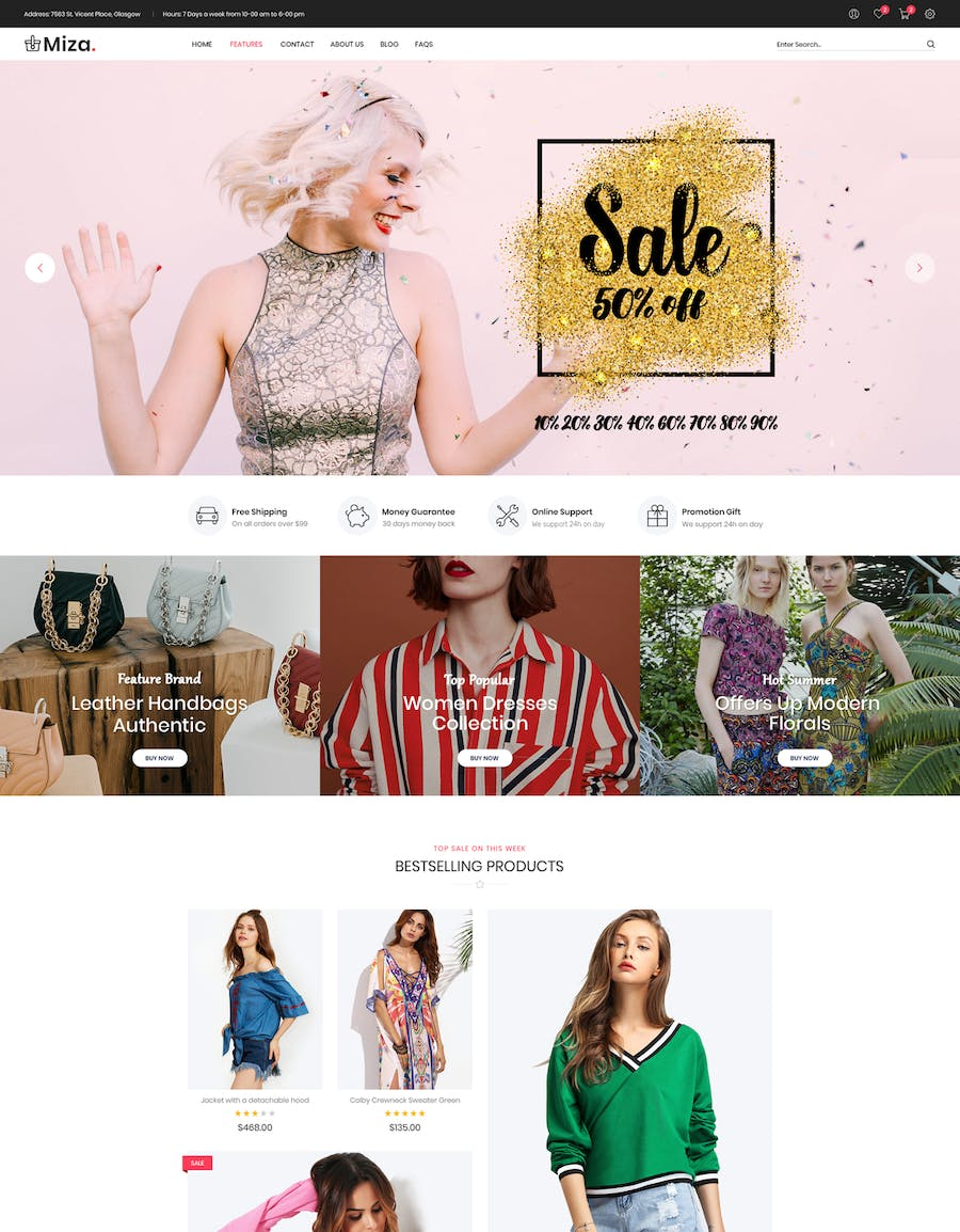 Miza - Fashion Bootstrap 4 Shopify Theme - product preview 1