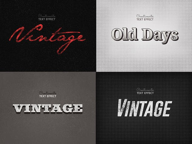 Vintage Retro Text Effects Col 8 - product preview 5