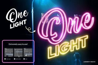 Thumbnail for Light Painting - Photoshop Action