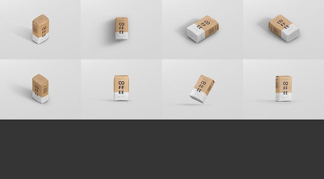 Coffee Paper Bag Mockup - product preview 14