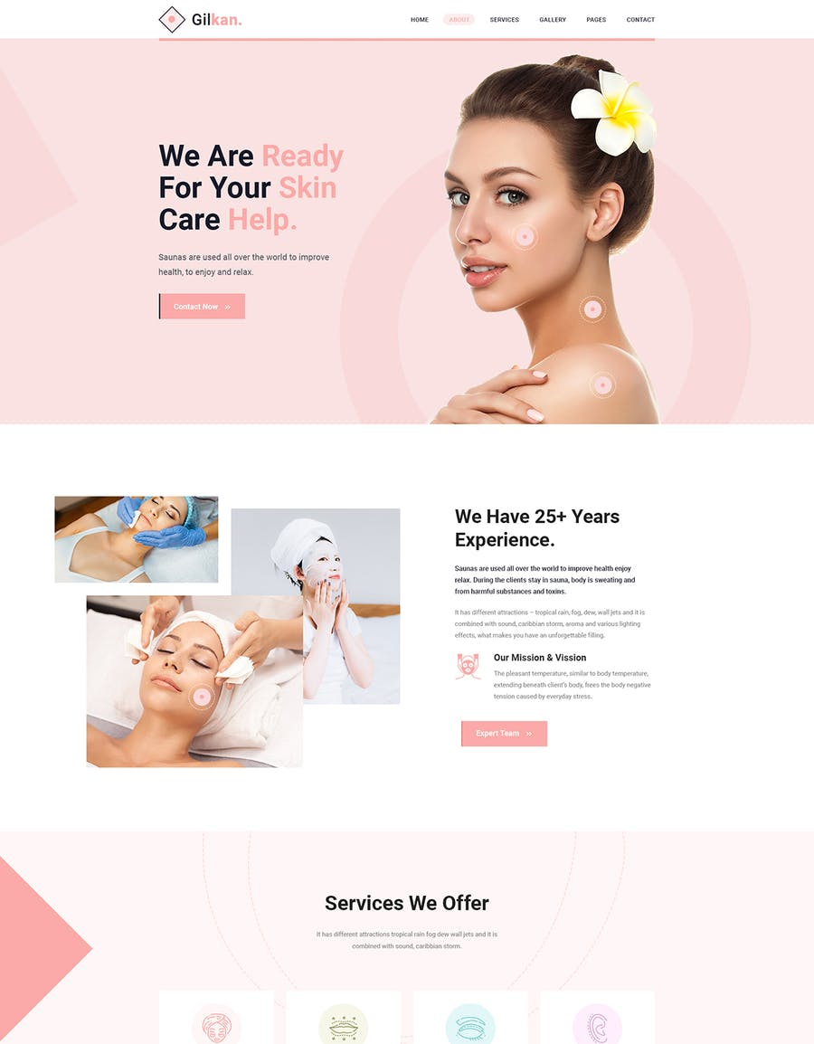Gilkan - Dermatology and Skin Care HTML5 Template - product preview 5