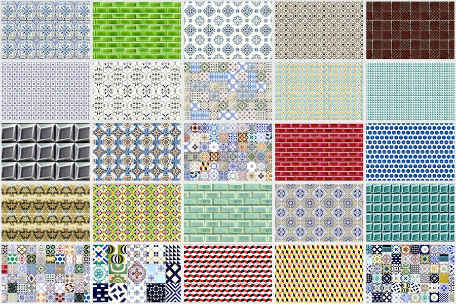 200 Seamless Portugal Azulejo Tile Backgrounds - product preview 8