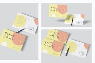 Thumbnail für Rechteck Horizontal Postkarte Mockup-Vorlage