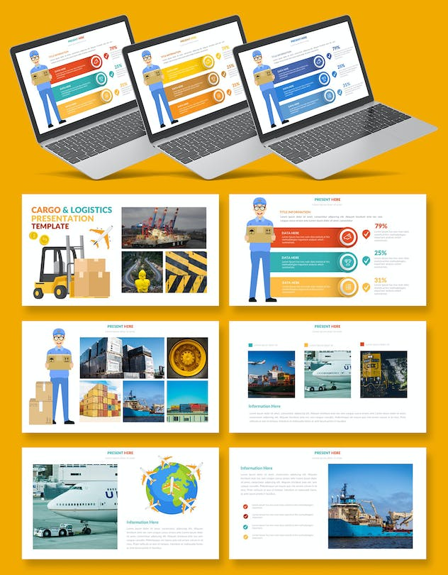 Logistic Infographic Powerpoint - product preview 1
