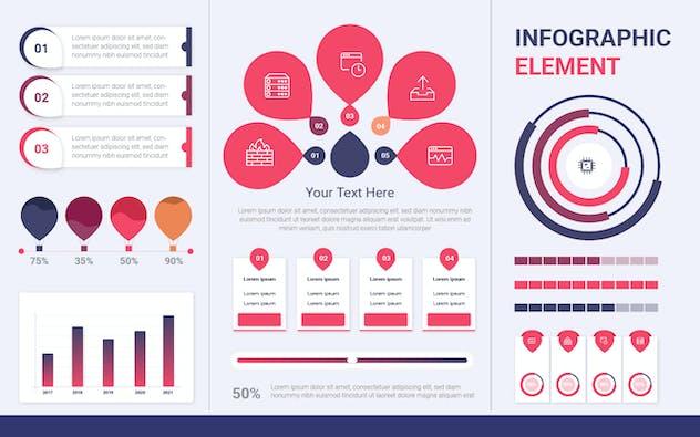 Infographic Examples for Designer V.19