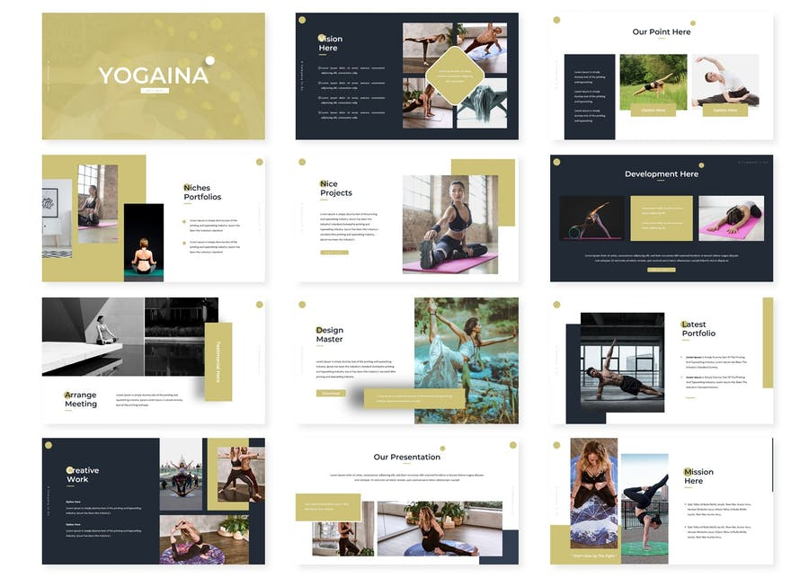 Yogaina - Powerpoint Template - product preview 1