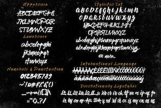 Thumbnail for HajarBleh Brush Font