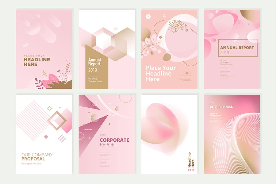 Beauty brochure, annual report, cover designs - product preview 1