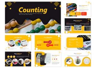 Miniatura para Contando | Modelo do Google Slides