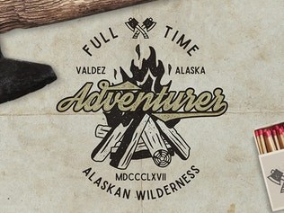 Thumbnail for Vintage Mountain Expedition Badges and Logo